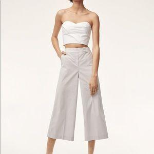Straight leg crop trousers